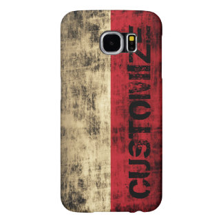 Personalized Vintage Grunge Polish Flag Samsung Galaxy S6 Cases