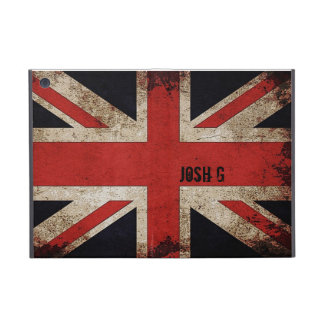 Personalized Vintage Grunge UK Flag iPad Mini Case