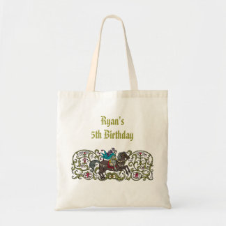 Personalized Vintage Knight Budget Tote Bag