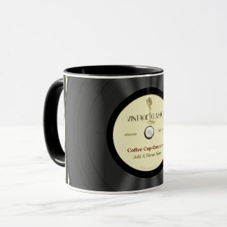 Personalized Vintage Microphone Vinyl Record Mug