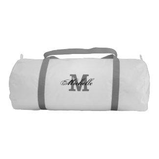 Personalized vintage monogram name duffle gym bags gym duffel bag