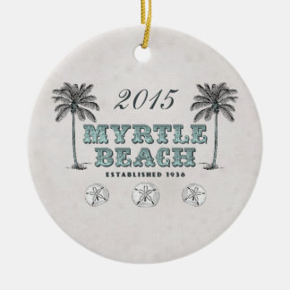 Personalized Vintage Myrtle Beach South Carolina Christmas Ornament