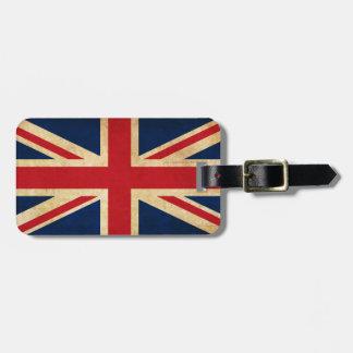 Personalized Vintage Patriotic United Kingdom Flag Luggage Tag