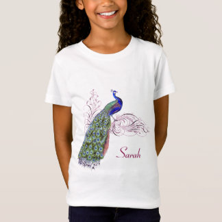 Personalized Vintage Peacock T-Shirt