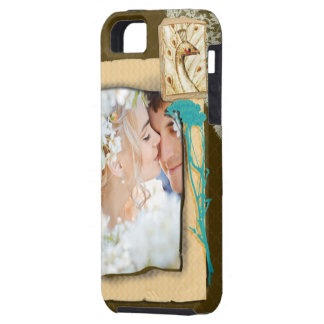 Personalized Vintage Photo Collage Tough iPhone 5 Case