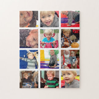 Personalized Vintage Photo Collage Jigsaw Puzzle