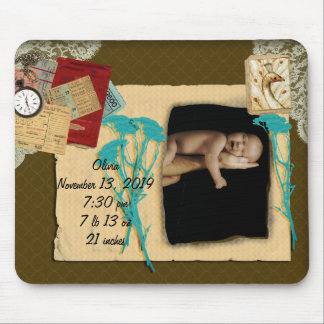 Personalized Vintage Photo Collage Mouse Pad
