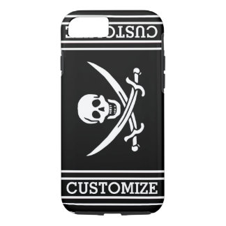 Personalized Vintage Pirate Flag iPhone 7 Case