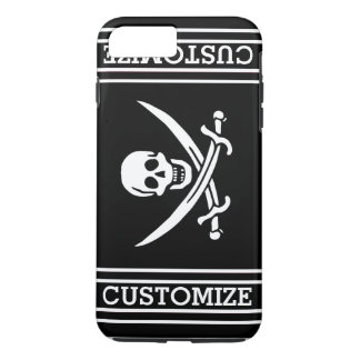 Personalized Vintage Pirate Flag iPhone 7 Plus Case