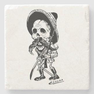 Personalized Vintage Posada Skeleton Calavera Stone Coaster