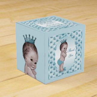 Personalized Vintage Prince Baby Roses Thank You Favour Boxes