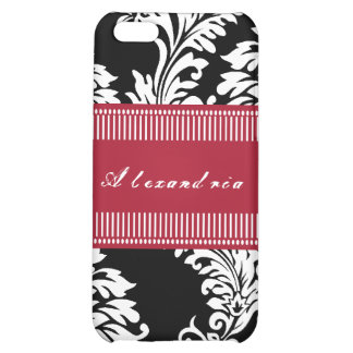 Personalized Vintage Red Damask iPhone Case iPhone 5C Case