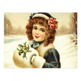 Personalized Vintage Retro Christmas Postcard