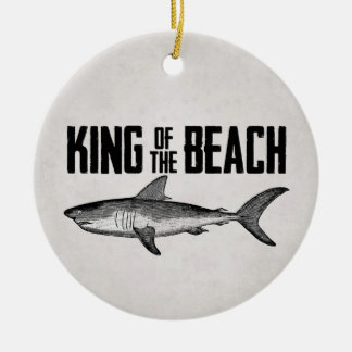 Personalized Vintage Shark Beach King Christmas Ornament