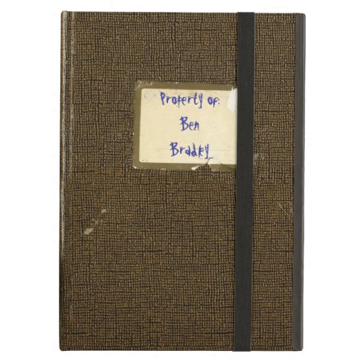 Personalized Vintage Tattered College Notebook iPad Folio Case