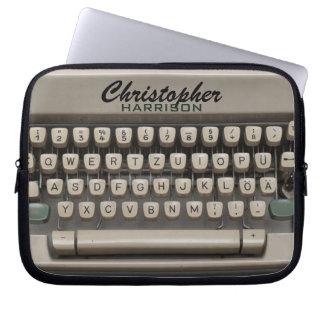 Personalized Vintage Typewriter Laptop Sleeve