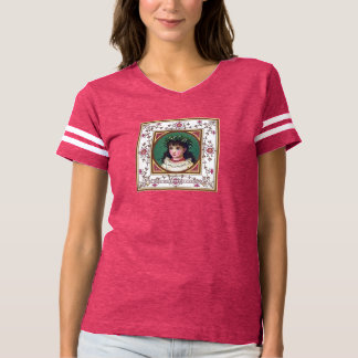 Personalized Vintage Victorian Christmas T-Shirt