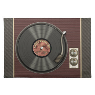 Personalized Vintage Vinyl Record Placemat