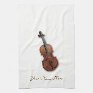 Personalized Viola Towel Design by Leslie Harlow