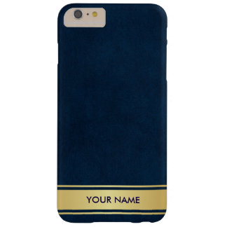 Personalized Vip Blue Marine Gold Stripes Case