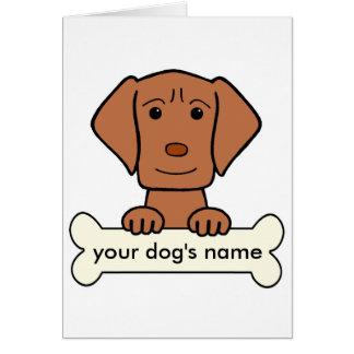 Personalized Vizsla Card