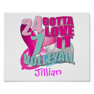Personalized Volleyball Gifts Poster