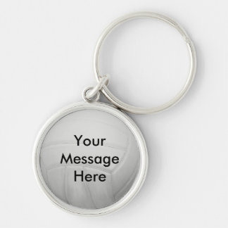 Personalized Volleyball Keychain