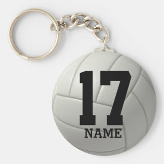 Personalized Volleyball (name & number) Key Ring