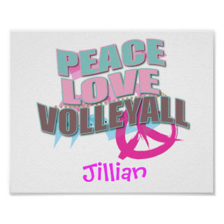 Personalized Volleyball Poster