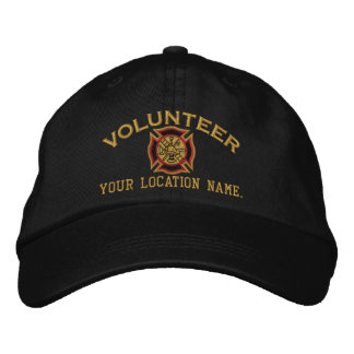 Personalized Volunteer Firefighter Embroidery Baseball Cap