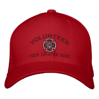 Personalized Volunteer Firefighter Embroidery Embroidered Baseball Cap
