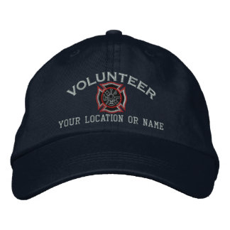 Personalized Volunteer Firefighter Embroidery Embroidered Hat