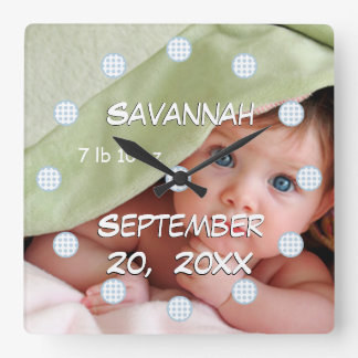 Personalized Wall Clock Baby's Name and Birth Date