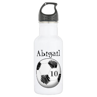 Personalized water bottle soccer ball