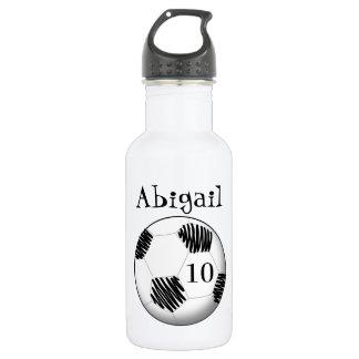 Personalized water bottle soccer ball 532 ml water bottle