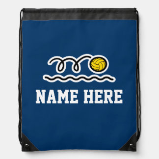 Personalized water polo drawstring backpack bag