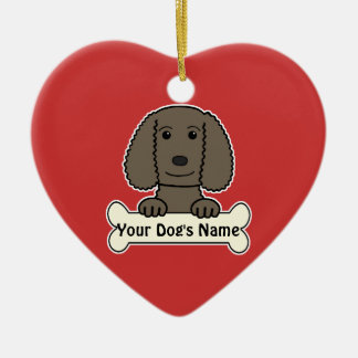 Personalized Water Spaniel Ceramic Heart Decoration