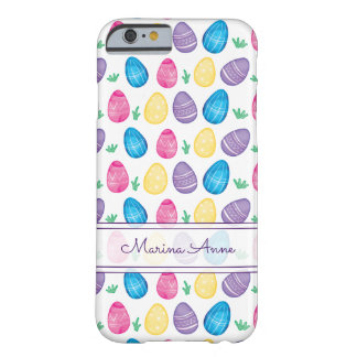 Personalized Watercolor Easter Egg Pattern Barely There iPhone 6 Case