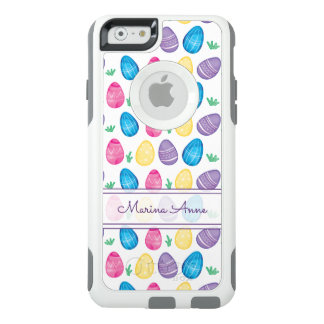 Personalized Watercolor Easter Egg Pattern OtterBox iPhone 6/6s Case