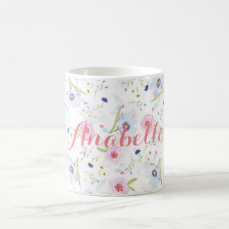 Personalized|| Watercolor floral mug