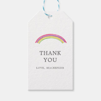 Personalized Watercolor Rainbow Thank You Gift Tag
