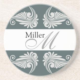 Personalized  Wedding Anniversary Monogram Drink Coaster