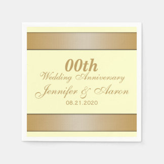 Personalized Wedding Anniversary Paper Napkins
