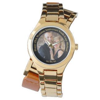 Personalized Wedding Anniversary PHOTO Custom Her Watch