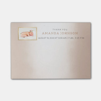 Personalized Wedding Baby Thank You Gift Favor Post-it® Notes