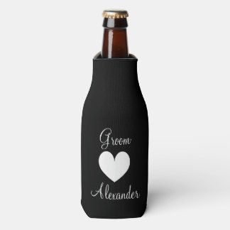 Personalized wedding bottle cooler for groomsmen