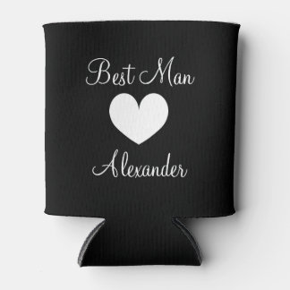 Personalized wedding can cooler for best man groom