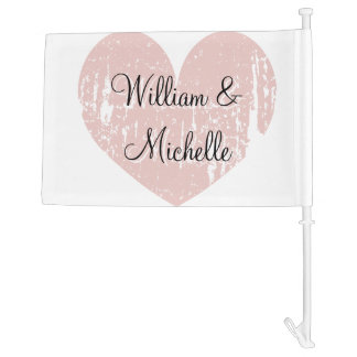 Personalized wedding car flag for newly weds