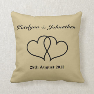Personalized Wedding Date Throw Pillow