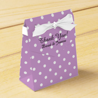 Personalized wedding favor box | lavender purple